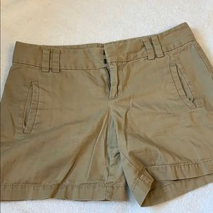"Loft khaki shorts 3"" inseam - size 0"